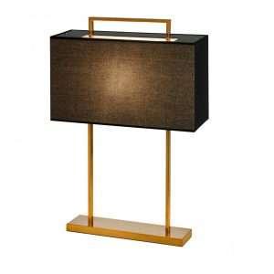 Bord lampe Aruba H65cm Firkant 2 pinner gull sort skjerm
