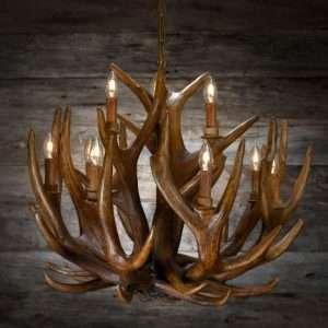 Chandelier deer large / Lysekrone hjort stor 80x65