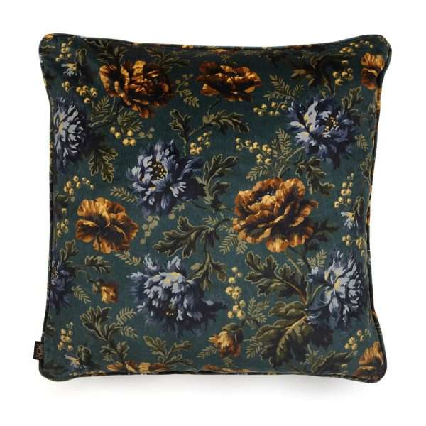 House of Hackney Opia Velvet Cushion Petrol L