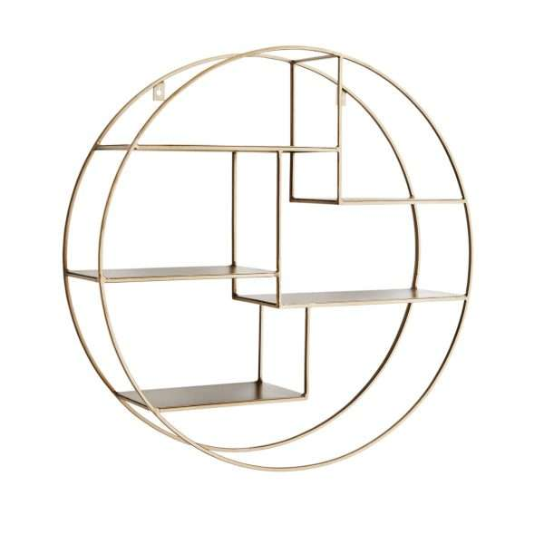Madam stoltz round wall shelf